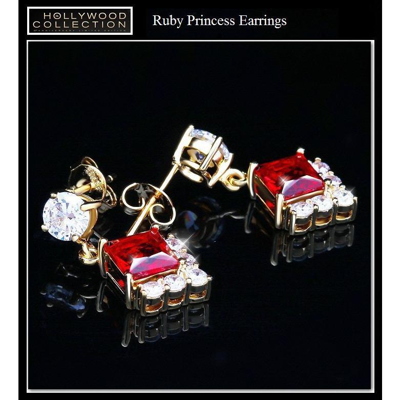 ピアス 揺れる ルビー レッド 18金 18KGP プリンセス アンジェリーナ ジョリー コレクション|celeb-cz-jewelry|05