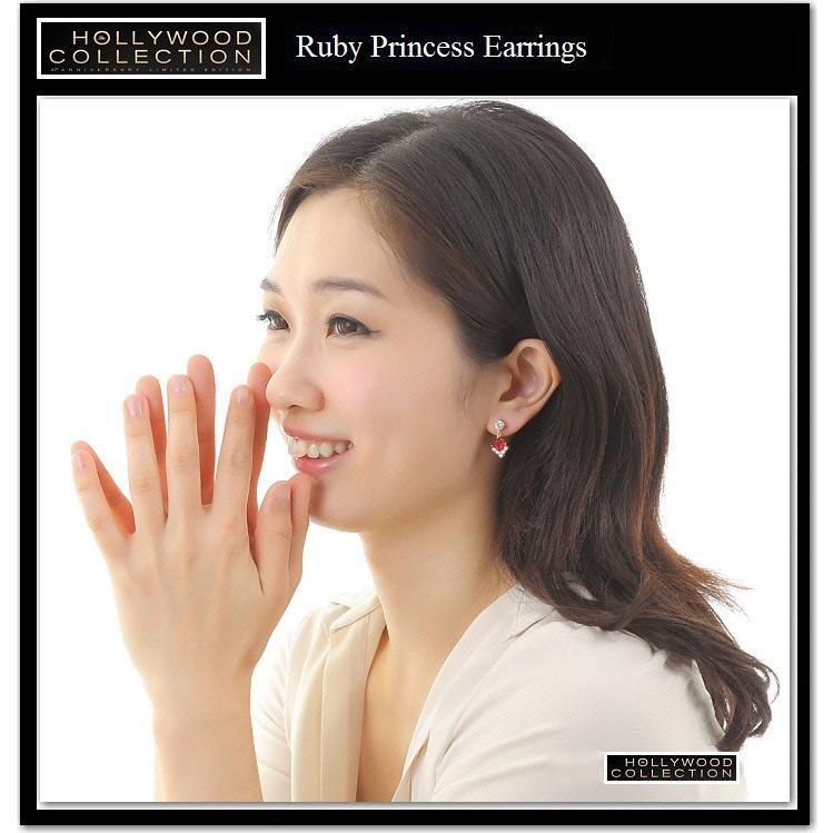 ピアス 揺れる ルビー レッド 18金 18KGP プリンセス アンジェリーナ ジョリー コレクション|celeb-cz-jewelry|06