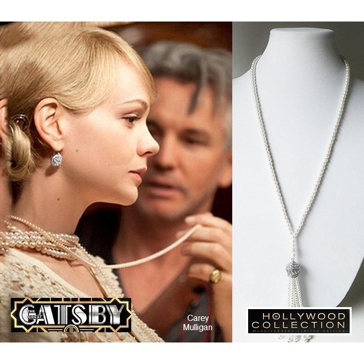 パール 真珠 ネックレス  ロング タッセル 結婚式 パーティ アールデコ 映画「華麗なるギャツビー」キャリー マリガン コレクション|celeb-cz-jewelry|09