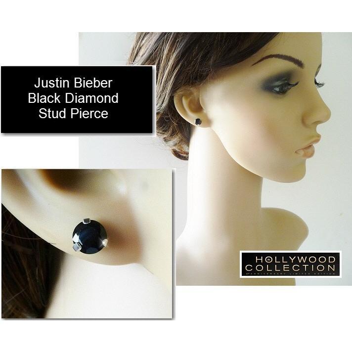 メンズ ピアス ブラックダイヤモンド 黒ダイヤ スタッド 両耳 ジャスティン ビーバー コレクション|celeb-cz-jewelry|05