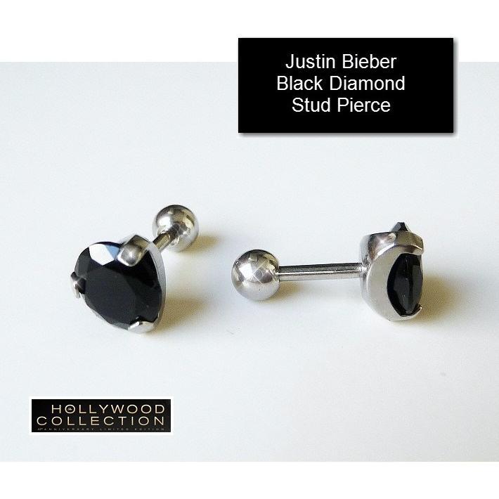 メンズ ピアス ブラックダイヤモンド 黒ダイヤ スタッド 両耳 ジャスティン ビーバー コレクション|celeb-cz-jewelry|06