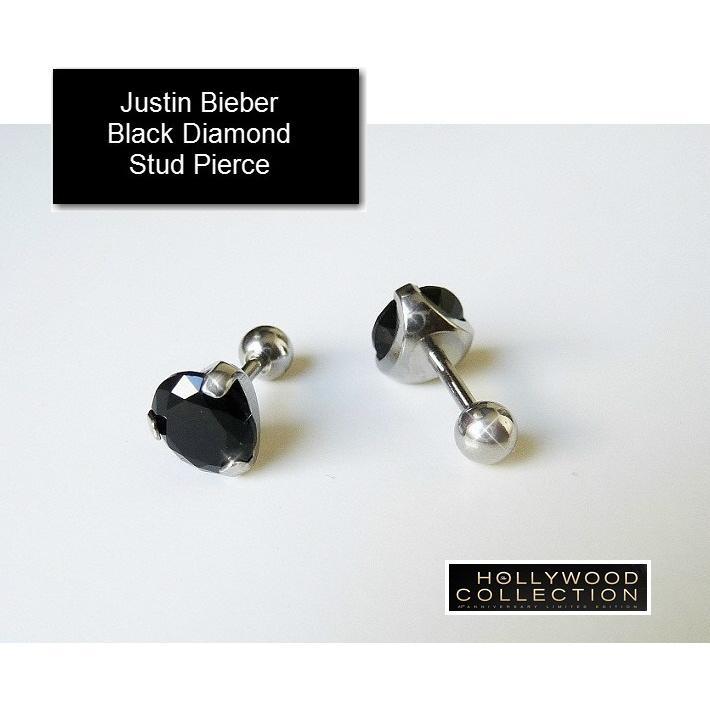 メンズ ピアス ブラックダイヤモンド 黒ダイヤ スタッド 両耳 ジャスティン ビーバー コレクション|celeb-cz-jewelry|07