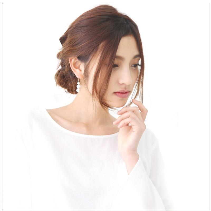 ピアス ニッケルフリー  日本製 コットンパール パールピアス アレルギー アレルギー対応 ゆれるピアス 金属アレルギー フック シンプル レディース 40代 50代 cenfill 02