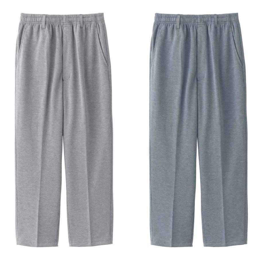 シニアファッション メンズ 70代 80代 90代 スウェット ストレート パンツ 前ファスナー 股下 (服 衣料 高齢者 シニアファッション 男性 紳士 メンズ) 介護 春夏|center-urashima