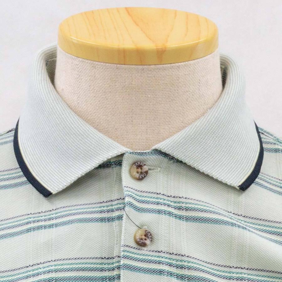 シニア 紳士 長袖 撚杢 格子 ポロシャツ シニアファッション 70代 80代 90代 春夏 center-urashima 05