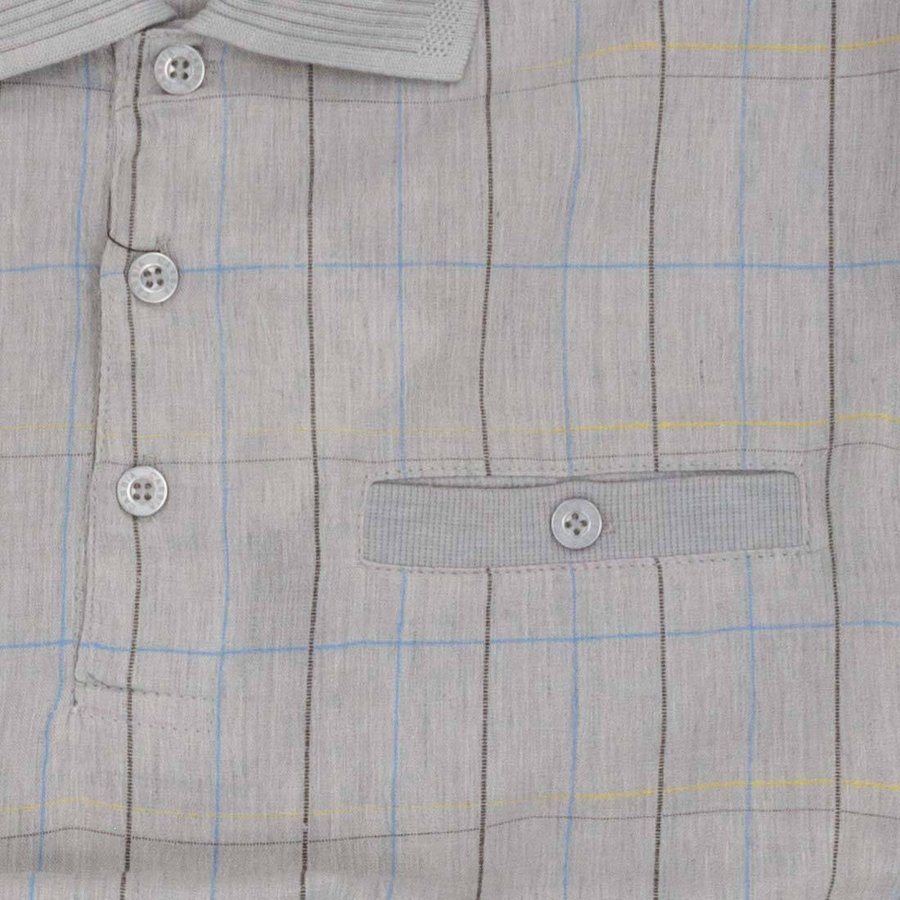 シニア メンズ シニアファッション 紳士服 春 夏 涼感 麻混 夏長袖 楊柳 ポロ ブルゾン パンツ 上下セット 春夏 center-urashima 05