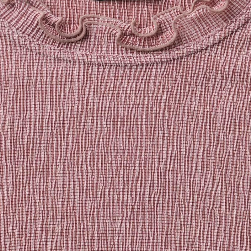 シニアファッション レディース 70代 80代 90代 テンセル混メロウ襟 7分袖カットソー(服 衣料 高齢者 婦人 女性 レディース) 母の日 敬老の日 介護|center-urashima|06