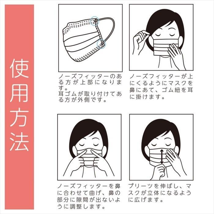【送料無料 1000円ぽっきり】やや小さめ マスク 50枚 小さめ 医療 小さいマスク 使い捨て 3層構造 VFE 99% カット フィルター 立体 やや 小さめ 1000円 ポッキリ|centrage|10