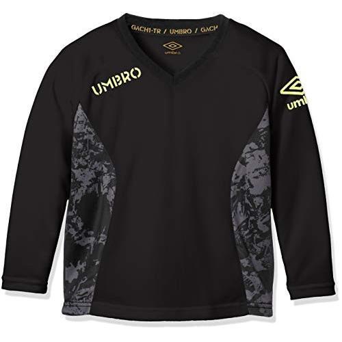 [アンブロ] Tシャツ 吸汗 速乾 UUJMJB51 キッズ ブラック 日本 150 (日本サイズ150 相当)