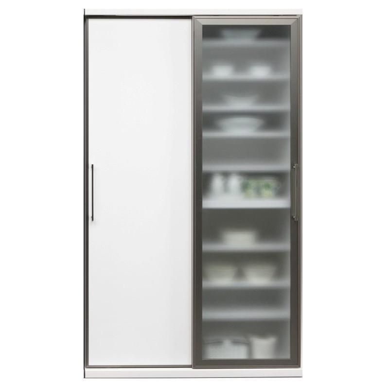食器棚 ダイニングボード 完成品 人気 開梱設置 ガラス 120cm幅 サマンサ