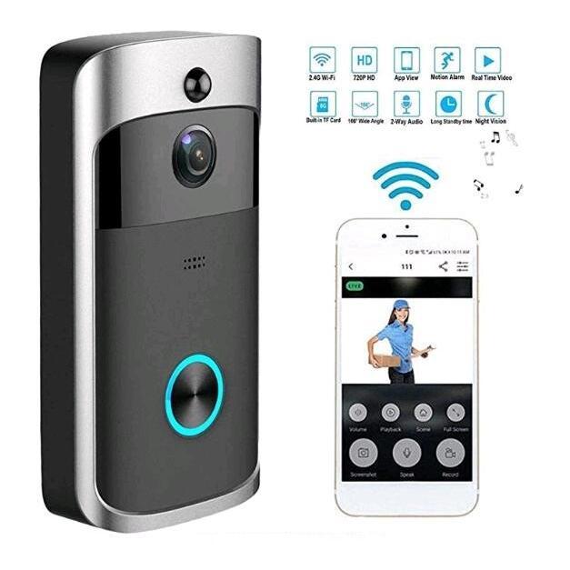 ワイヤレス インターホン ドアベル 防塵防水 インターフォン 遠隔操作 年中無休 即納最大半額 PIR動き検出 ナイトビジョン 受信機1個 呼び鈴 玄関チャイム