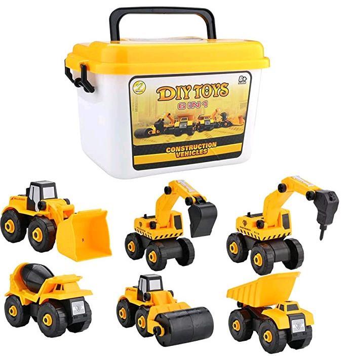 休み ショベルカーおもちゃ 車おもちゃ ミニカー 建設車両 2歳 収納ケース付き 3歳 激安通販専門店 誕生日 プレゼント 知育玩具