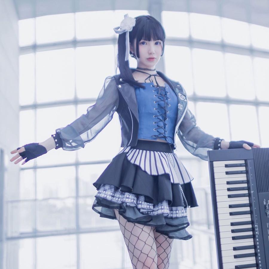 送料無料!! 激安!! BanG Dream!(バンドリ!) Roselia 褪せぬ誇りに差す残光 versus 白金 燐子 コスプレ衣装