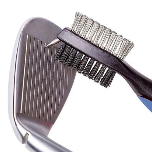 HLMY ゴルフ ブラシ ゴルフクラブ清潔用ブラシ メンテナンスツール ワイヤ&ナイロン両面携帯式ブラシ 伸ばす cgrt 04