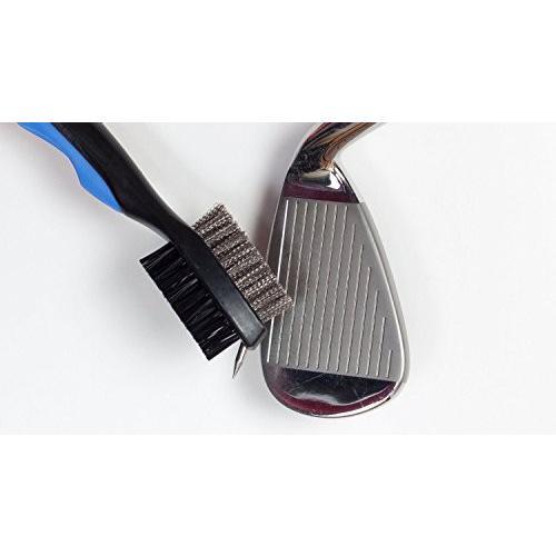 HLMY ゴルフ ブラシ ゴルフクラブ清潔用ブラシ メンテナンスツール ワイヤ&ナイロン両面携帯式ブラシ 伸ばす cgrt 05