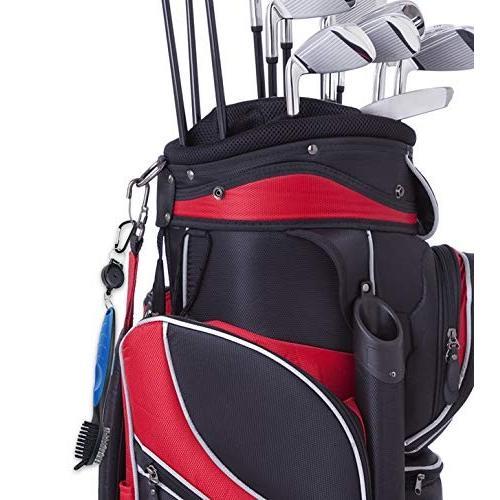 HLMY ゴルフ ブラシ ゴルフクラブ清潔用ブラシ メンテナンスツール ワイヤ&ナイロン両面携帯式ブラシ 伸ばす cgrt 06