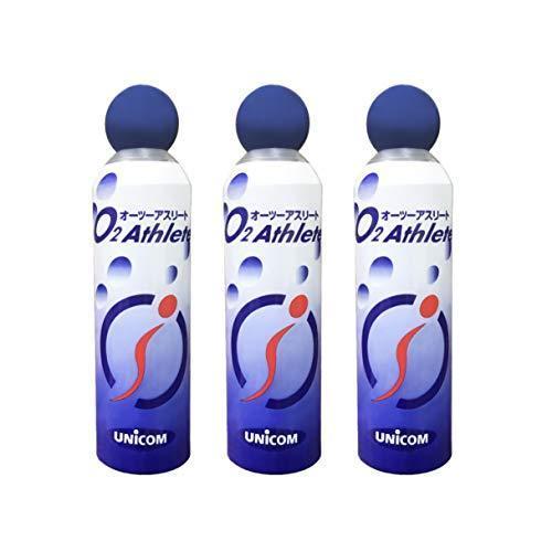UNICOM 休日 携帯酸素発生器 オーツーアスリート O2 Athlete 交換用酸素ボンベ 購入 3本セット