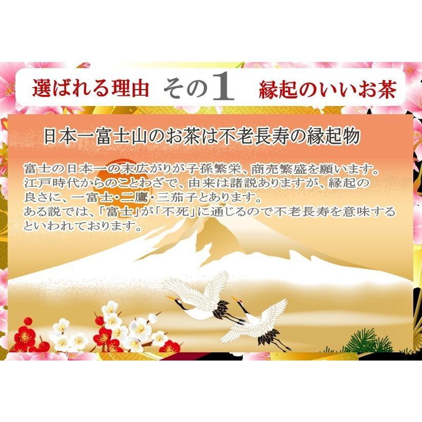 お茶ギフト 厳選ぜんざい2袋と幸せ呼ぶ八十八夜「世界遺産」富士山長寿のお茶詰め合わせセット chabatakechokusoubin 05