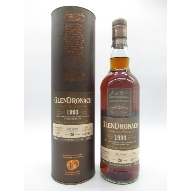 グレンドロナック 26年 1993 ペドロヒメネス シェリーバット for Scotchwhisky.com 50.9度 700ml