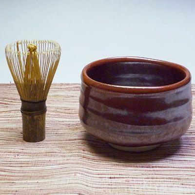 美濃焼鉄赤抹茶茶碗(赤)【茶道具/抹茶茶碗】|chagokorochaya