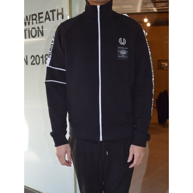 ART COMES FIRST x FRED PERRY アート・カムズ・ファースト x フレッドペリー コラボ ACF TAPED TRACK JACKET BLACK(ブラック)*SALE 30%OFF chambray-store