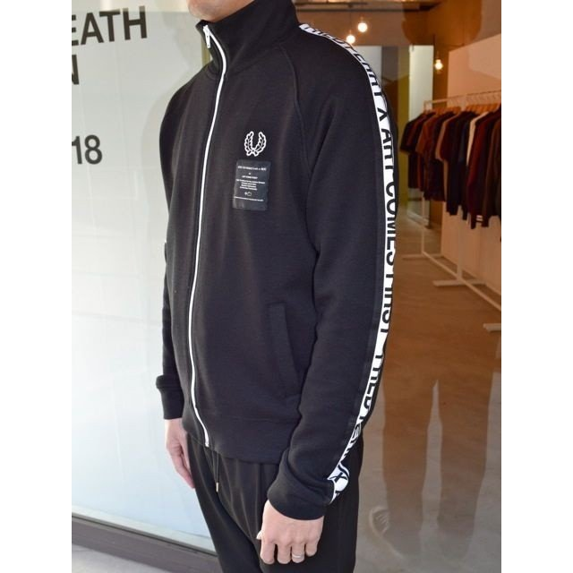 ART COMES FIRST x FRED PERRY アート・カムズ・ファースト x フレッドペリー コラボ ACF TAPED TRACK JACKET BLACK(ブラック)*SALE 30%OFF chambray-store 03