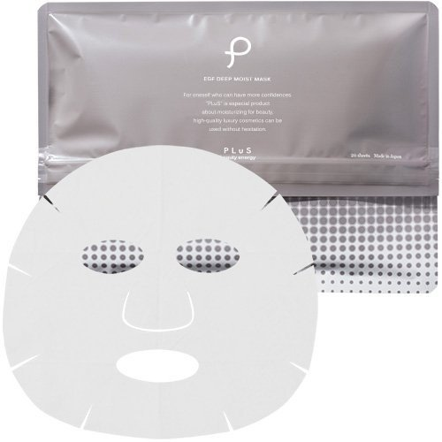 プリュ (ルイール) パック シートマスク 化粧水 20枚入 / EGFディープモイストマスク コラーゲン ヒアルロン酸 セラミド 配合 (|chan-gaba|02