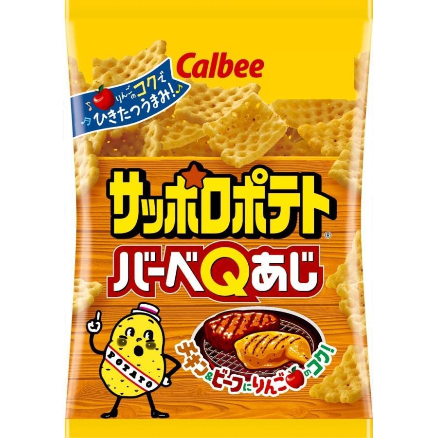 カルビー サッポロポテト バーベQあじ 24g × 24袋|chan-gaba