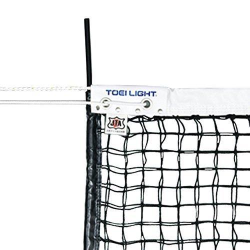 TOEI LIGHT(トーエイライト) 硬式テニスネット 幅106×長さ12,7m 網目3,5cm 無結節 スチールワイヤー14,3m 白帯