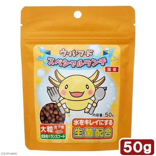 送料無料カード決済可能 日本動物薬品 ニチドウ ウーパーフード 50g 売り出し スペシャルランチ 大粒