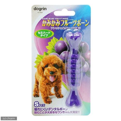スーパーキャット かみかみフルーツボーン 保障 S グレープ 最安値に挑戦 デンタルケア 犬用おもちゃ 犬