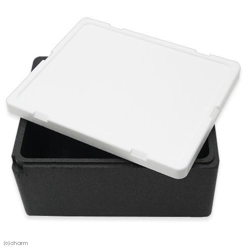 送料無料 発泡スチロール箱 本体 黒 とフタ 商い のセット 白 お一人様2点限り 幅43×奥行き35×高さ22cm