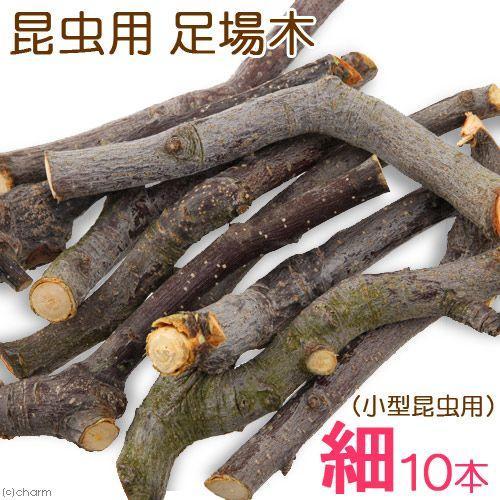 使い勝手の良い 足場木 細 送料無料 新品 10本1組 小型昆虫用 転倒防止