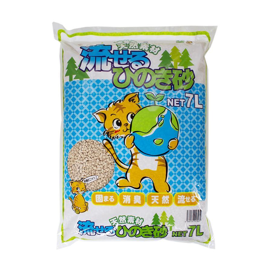 猫砂 お一人様1点限り ブランド激安セール会場 流せるひのき砂 7L 7袋入り メーカー公式