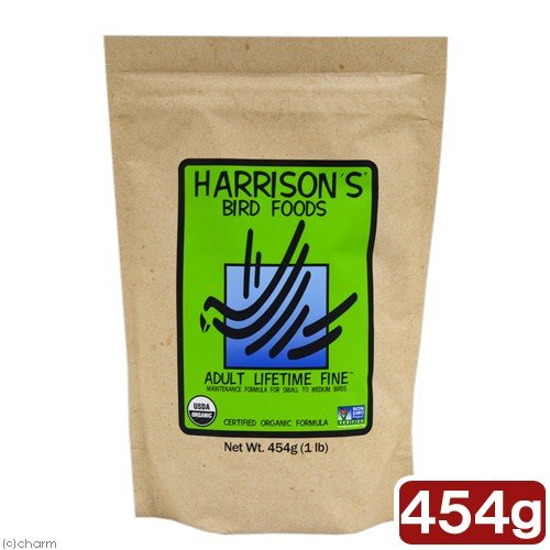 ハリソン セール価格 バードフード アダルトライフタイム 小粒 買物 454g ファイン