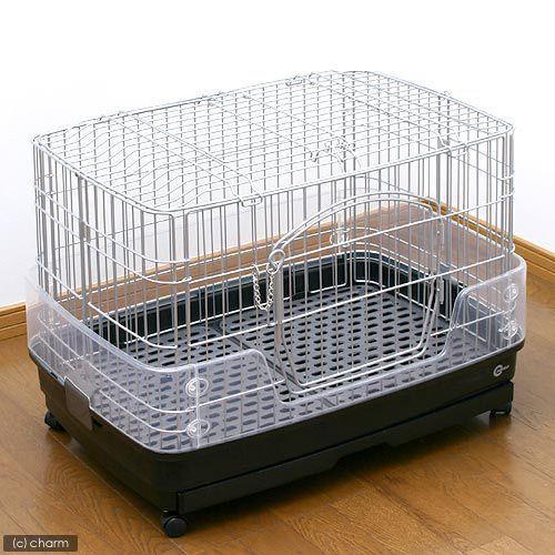 マルカン クリアケージ S(68×47×51cm)ウサギ チンチラ フェレット ケージ 沖縄別途送料 お一人様2点限り