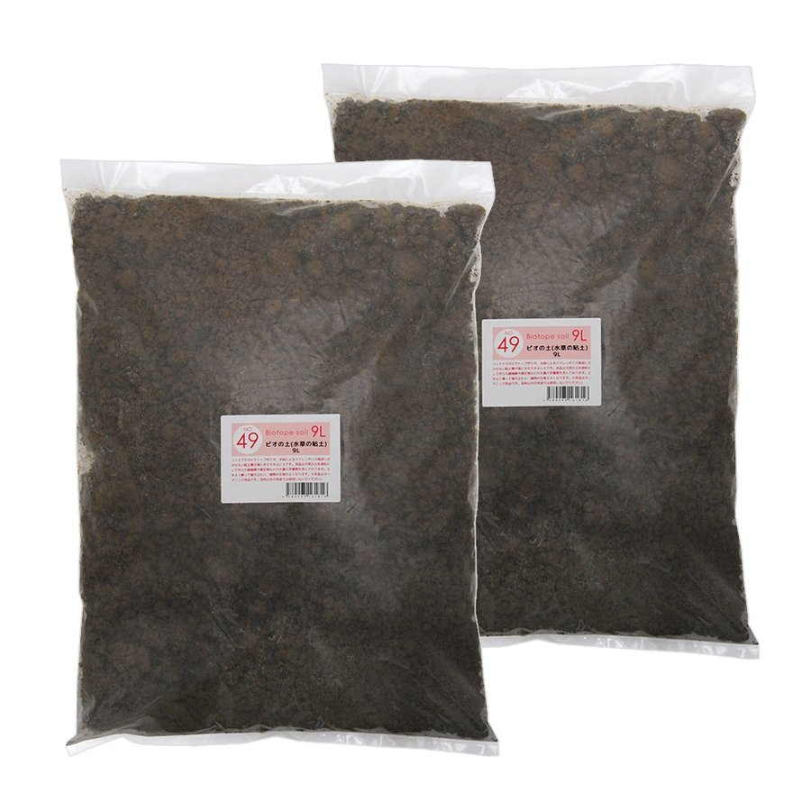 別倉庫からの配送 No.49 美品 ビオの土 水草の粘土 9リットル×2袋セット お一人様1点限り