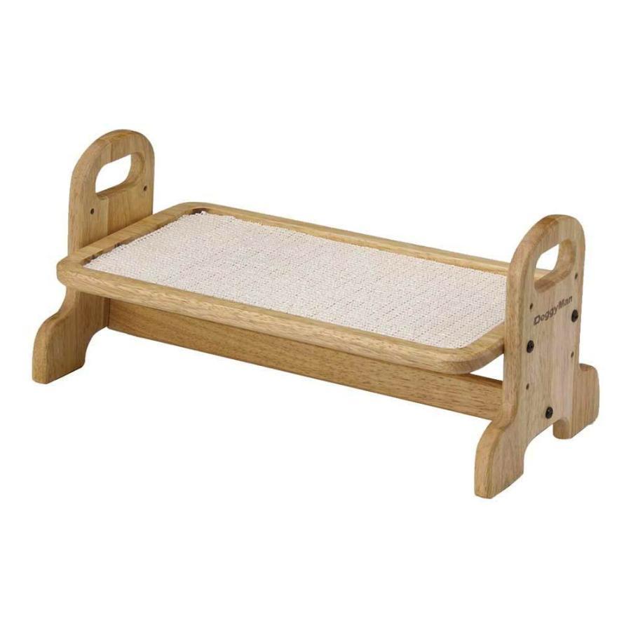 ドギーマン 新着セール 買い取り ウッディーダイニング S 猫用食器台 トレー 犬用