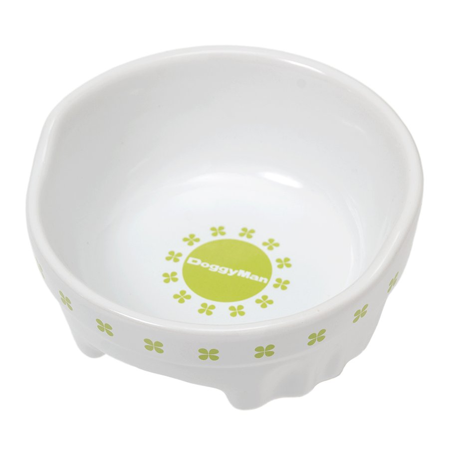 ドギーマン 安値 すべり止め付 安心の実績 高価 買取 強化中 便利なクローバー陶製食器 S