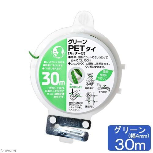 グリーンPETタイ 菊用 緑 新色 カッター付 30m 購買