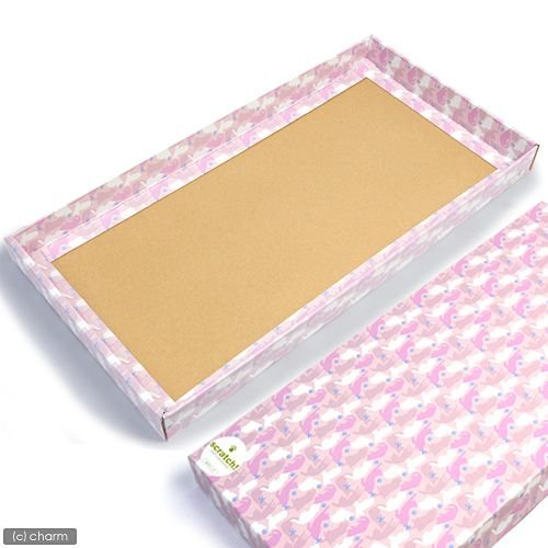 クリアランスsale 期間限定 猫 爪とぎ つめとぎ 海外限定 カリカリくん 用化粧箱 1枚 猫の爪みがき ワイド 化粧箱のみ ピンク