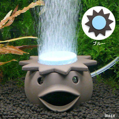 いぶきエアストーン ファンシーエアストーン河童 ブルー アクアリウム用品 直営店 エアーストーン 水槽用オブジェ 安値
