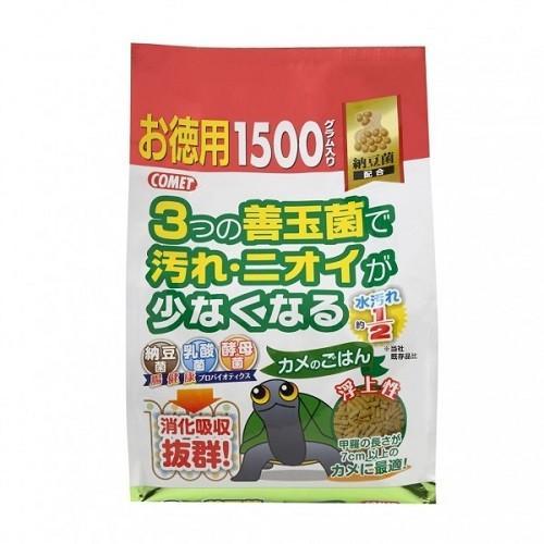 コメット カメのごはん 納豆菌 お徳用 高い素材 希少 1500g エサ 餌