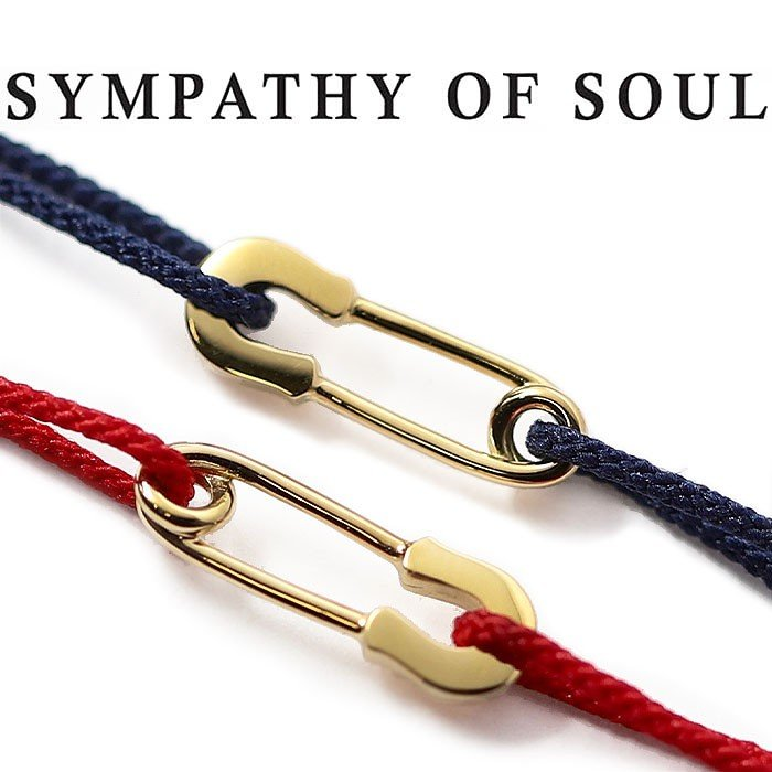 【2019春夏新作】 シンパシーオブソウル ブレスレット SYMPATHY OF SOUL Safety Pin Cord Bracelet K18Yellow Gold セーフティー ピンコード ブレスレット K18イエローゴールド, TRIVANDRUM ea51847f