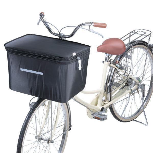 自転車 カゴカバー 川住製作所 2段式自転車前カゴカバー ワイドかご対応|charimart|03