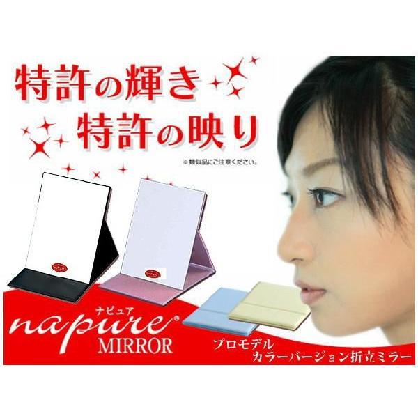 堀内鏡工業 Napure Mirror ナピュア 海外並行輸入正規品 人気の製品 ミラー M プロモデル カラーバージョン折立ミラー ブラック カラー:ピンク