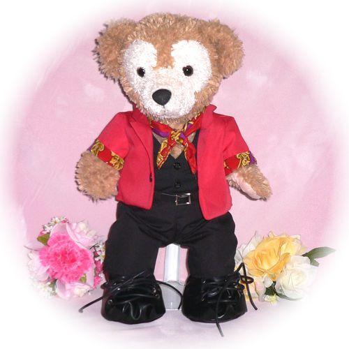ぬいぐるみ ダッフィー 衣装 Sサイズ用 赤のジャケット IN FINITE K-POP