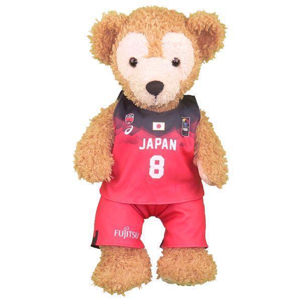 ぬいぐるみ ダッフィー 日本代表 女子 2019年ユニフォーム風 コスプレ 衣装 バスケットボール S Sサイズ 43cm