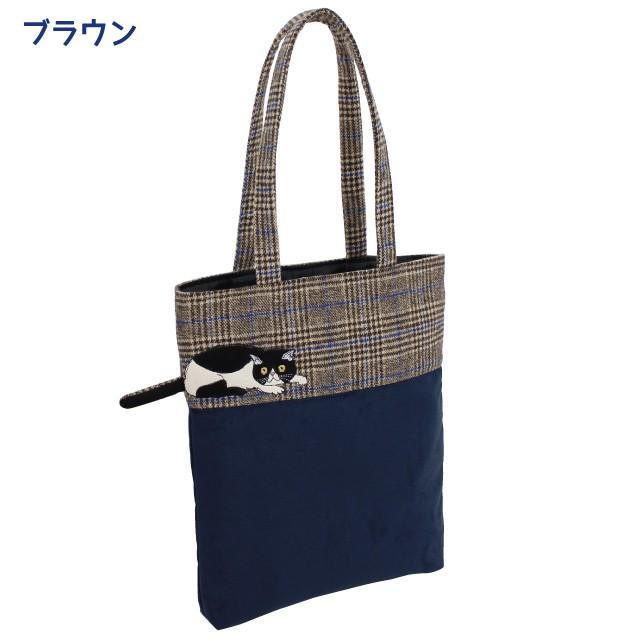 モーリー縦型トートバッグ(ノアファミリー 猫グッズ ネコ雑貨 バッグ ねこ柄) 051-A806 chatty-cloth 03