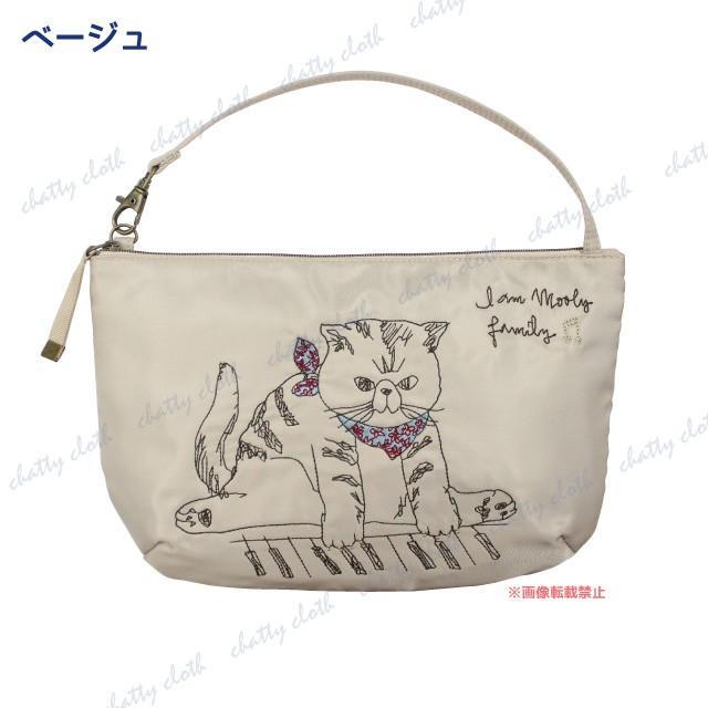 [メール便対応] モーリーハンディポーチ(ノアファミリー 猫グッズ ネコ雑貨 ポーチ ねこ柄) 051-A817 chatty-cloth 04